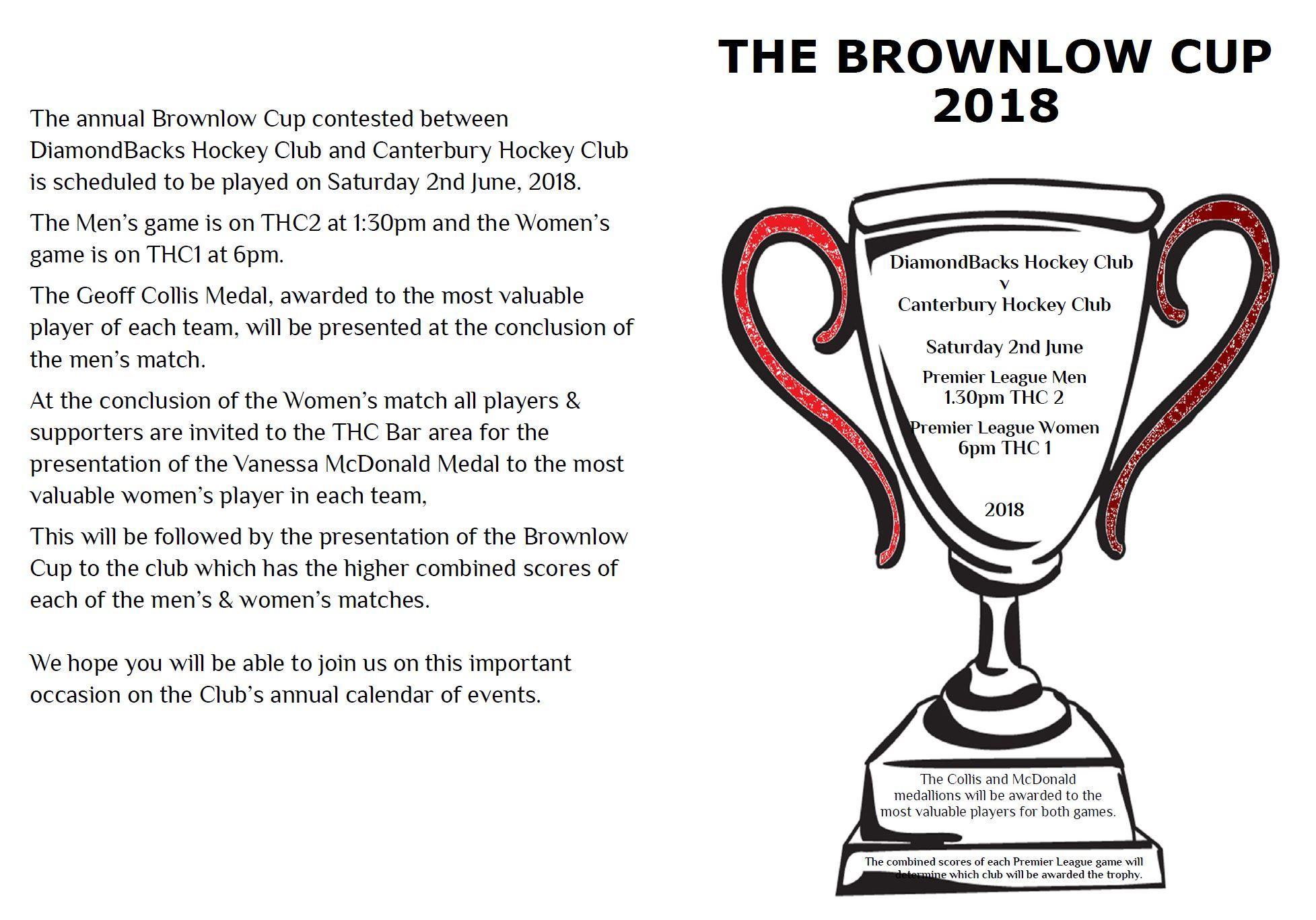 Brownlow Cup 2018 details